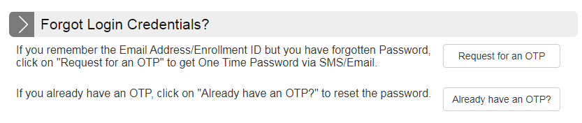 GOAPS login forget