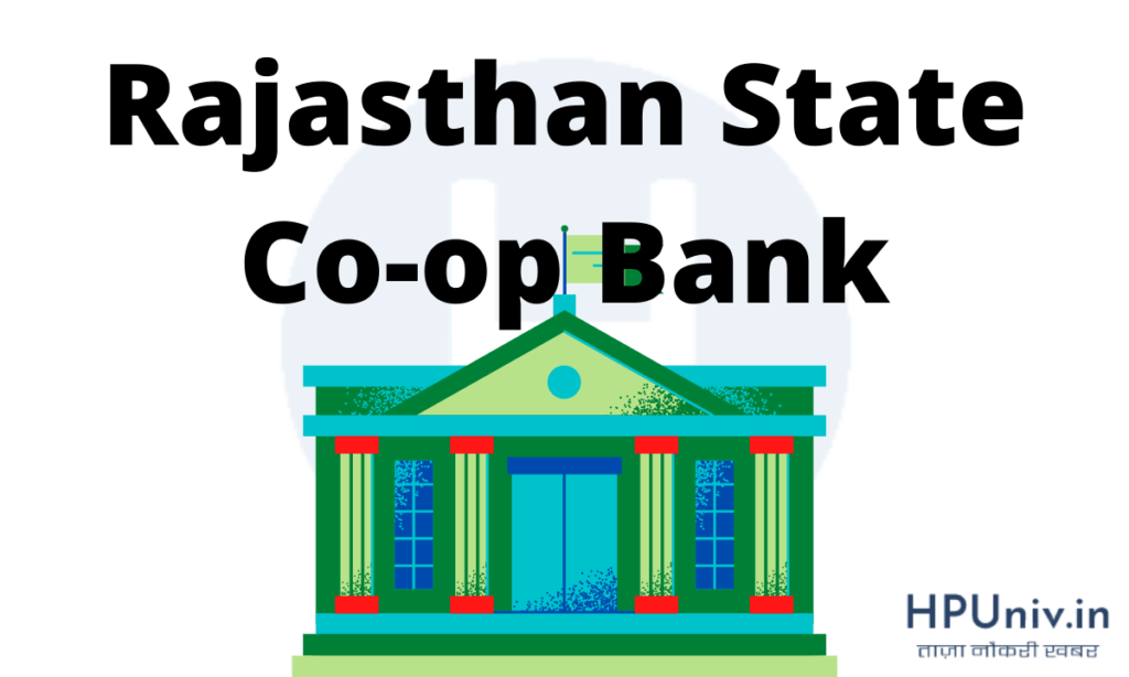 Rajasthan State Co-op Bank recruitment