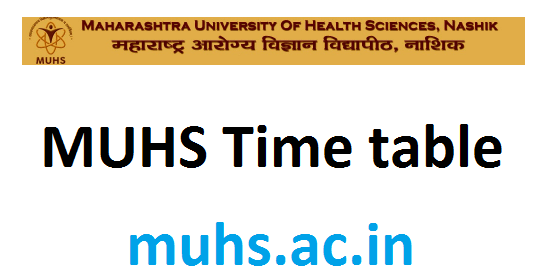 MUHS time table