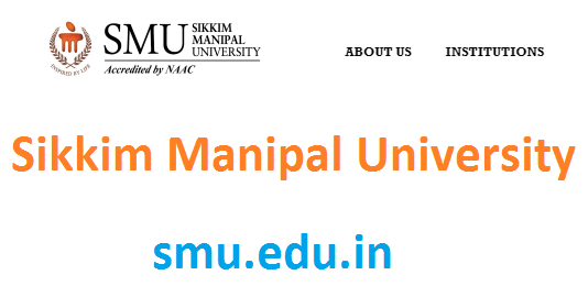 Sikkim Manipal University time table