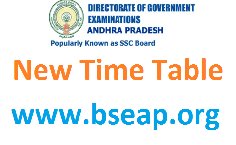 AP SSC new time table