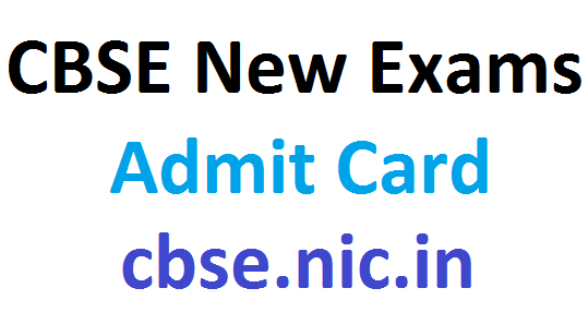 CBSE new admit card