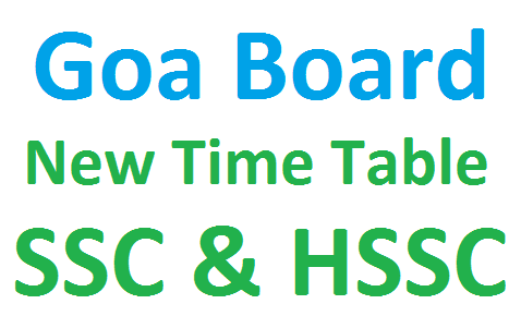 Goard board new time table