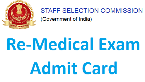 SSC GD Re-Medical admit card