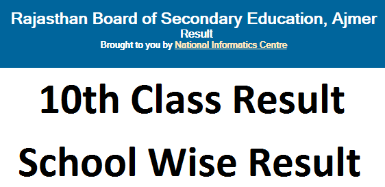 Roll No Wise Rbse 10th Rechecking Result 2020 School Wise District Wise