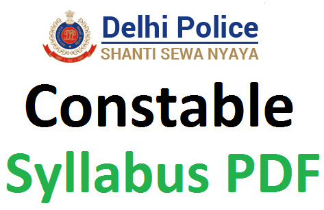 SSC Delhi police constable syllabus