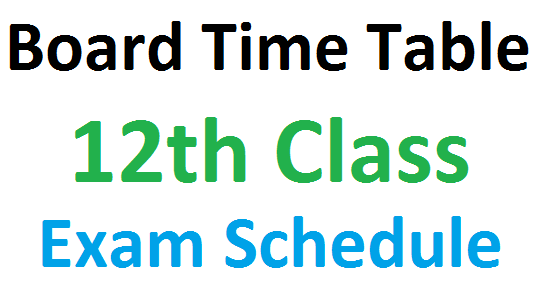 12th time table