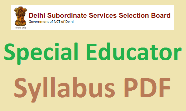 DSSSB Special Educator Syllabus