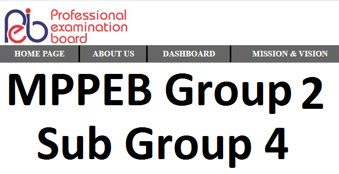 MPPEB group 2 result